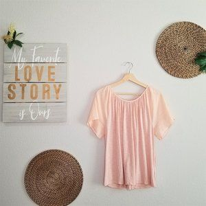 GAP Short Sleeve Tie Back Peasant Tshirt Blouse